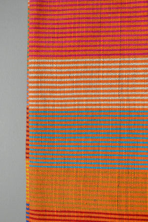 Bold Striped Throw Blanket Closeup by Yuba Mercantile