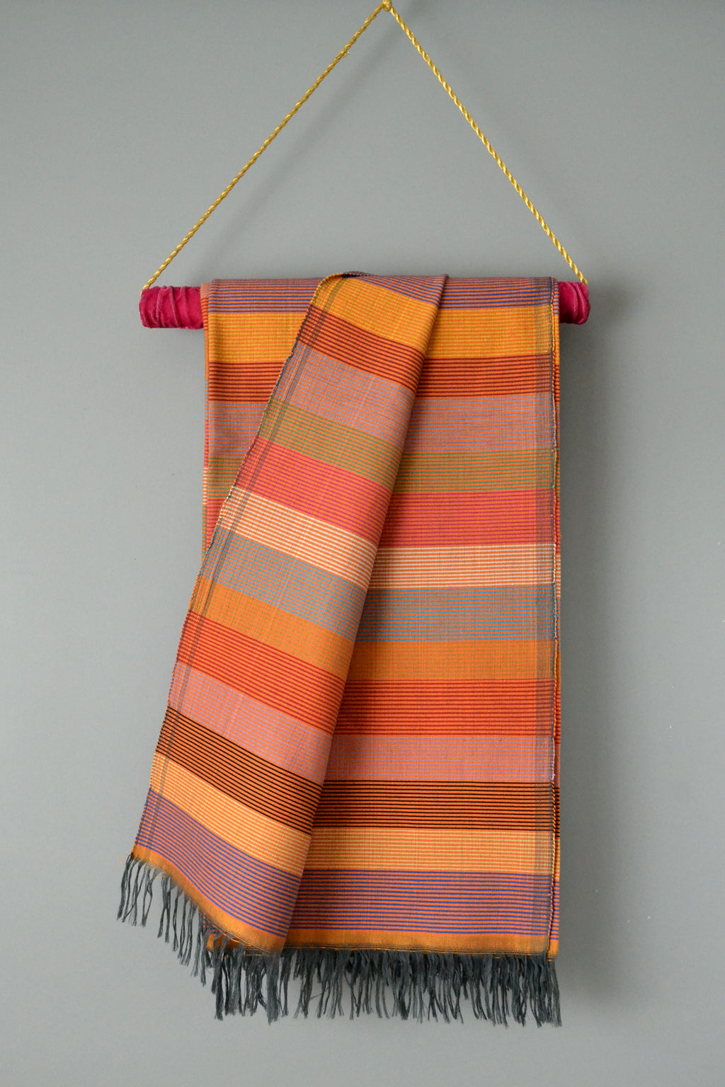Bold Striped Throw Blanket by Yuba Mercantile