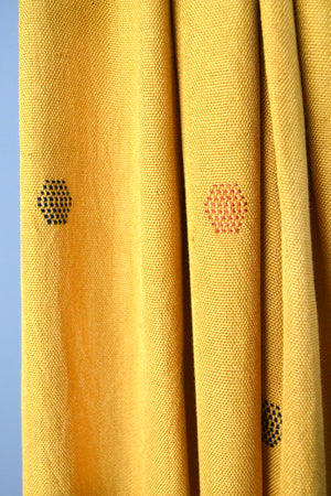 Mustard Yellow Honeycomb Scarf
