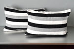 Striped Cotton Lumbar Pillow