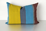 Color block cotton throw pillow cover by Yuba Mercantile