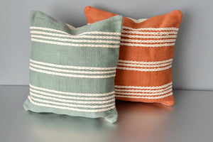 Green and Terracotta Meadow Pillows by Yuba Mercantile