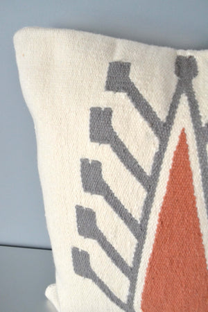 Ivory Cyprus Wool Throw Pillow Closeup by Yuba Mercantile