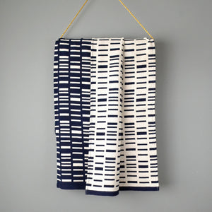 Navy Reversible Throw