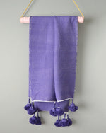 Plum Moroccan Cotton Pom Pom Throw from Yuba Mercantile