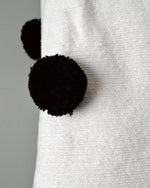 Black and White Moroccan Cotton Pom Pom Blanket from Yuba Mercantile
