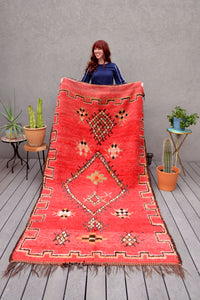 Red Vintage Moroccan Azilal Rug by Yuba Mercantile
