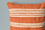Terracotta Orange Cotton Pillow Closeup by Yuba Mercantile