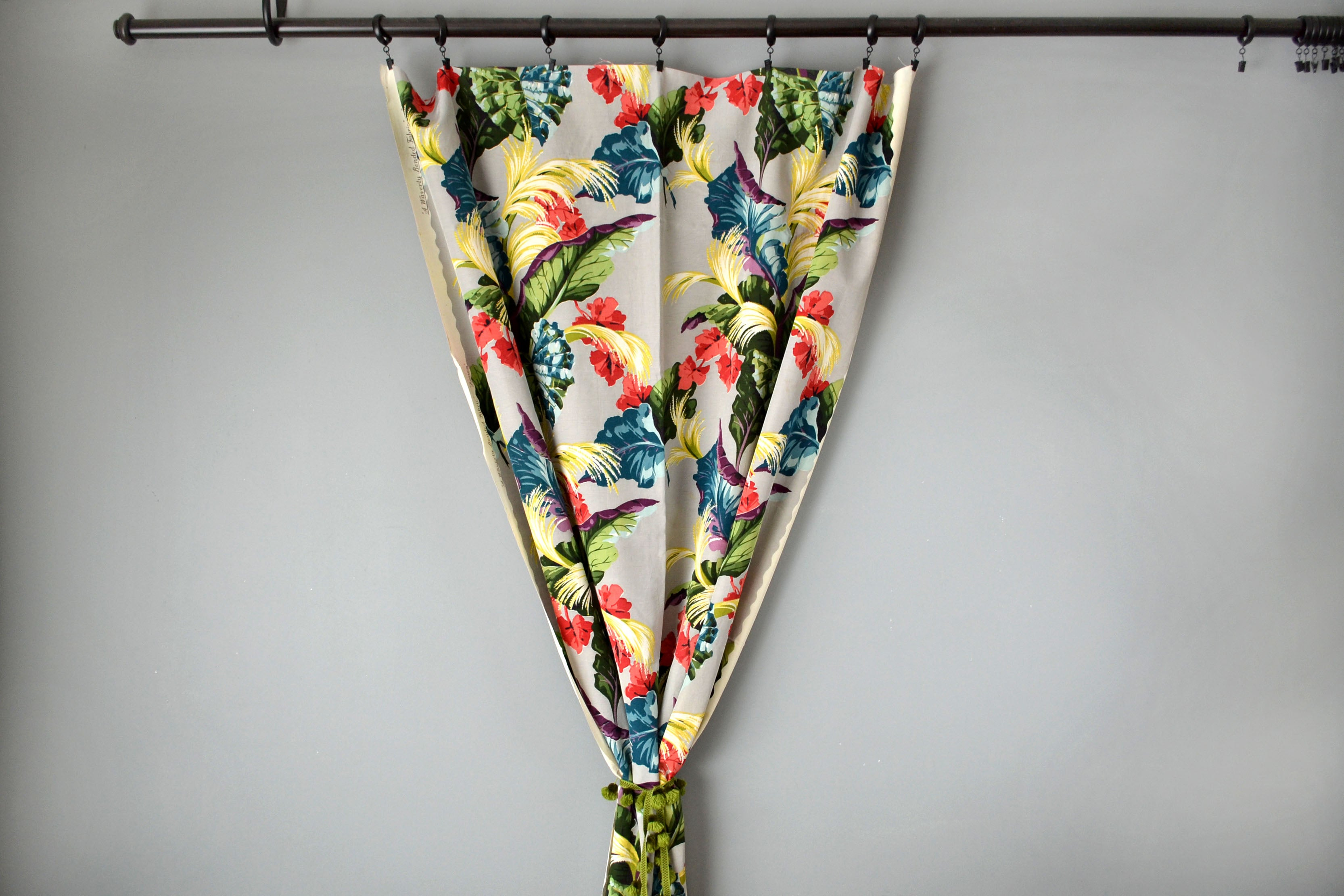 Tropical Floral Faille Curtains by Yuba Mercantile