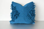 Dark Teal Tufted Triangles Pillow by Yuba Mercantile