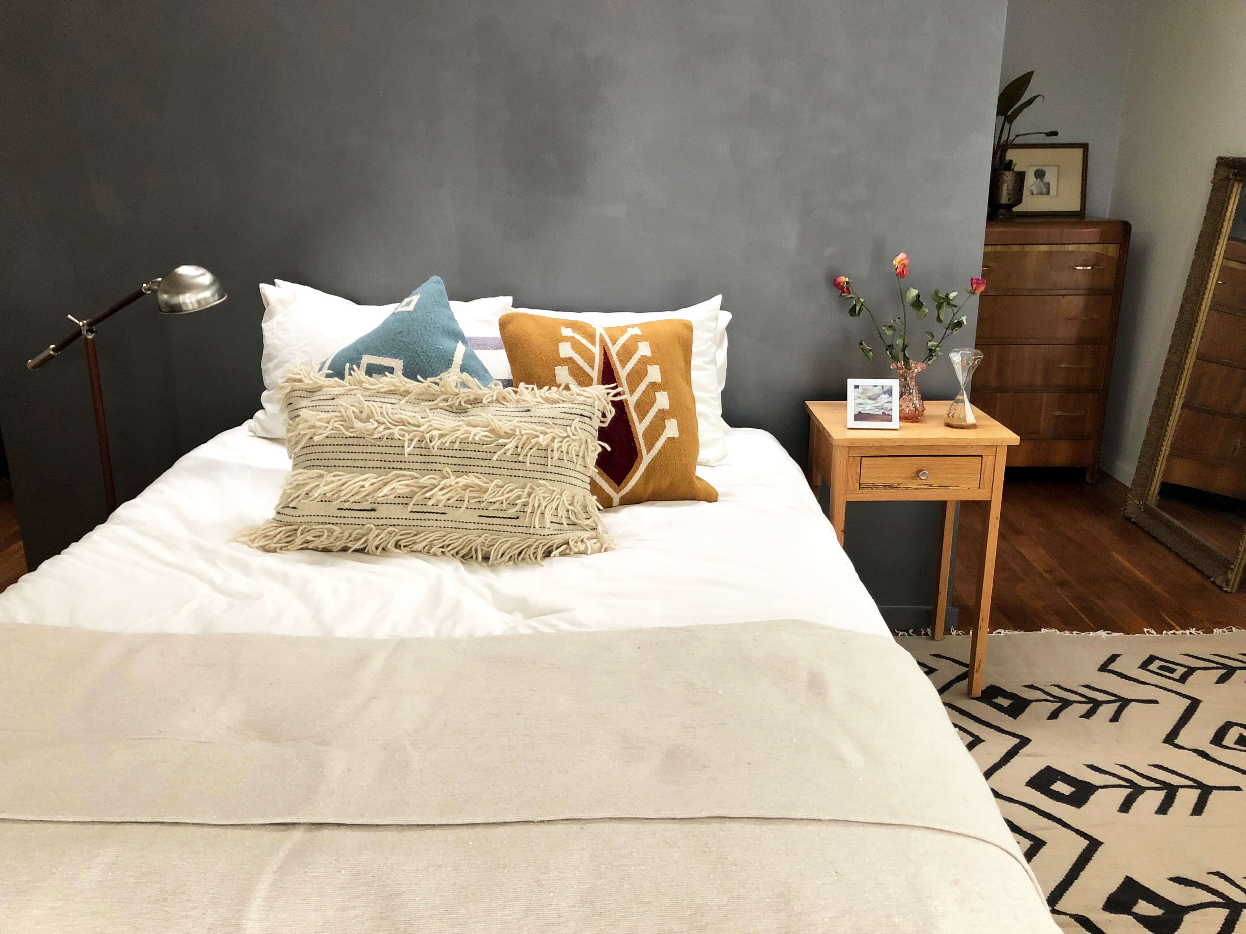 Wool throw pillow covers by Yuba Mercantile