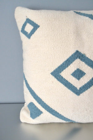 White Nile Ivory Wool Throw Pillow Closeup by Yuba Mercantile