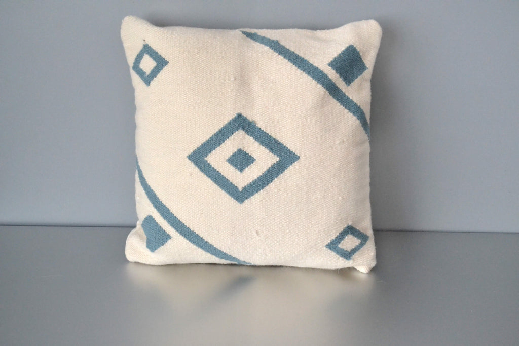 White Nile Ivory Wool Throw Pillow by Yuba Mercantile
