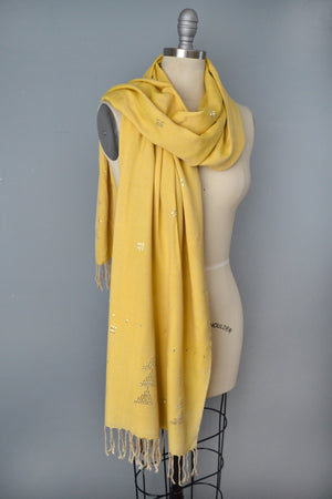 Bumblebee Yellow Assiut Style Scarf