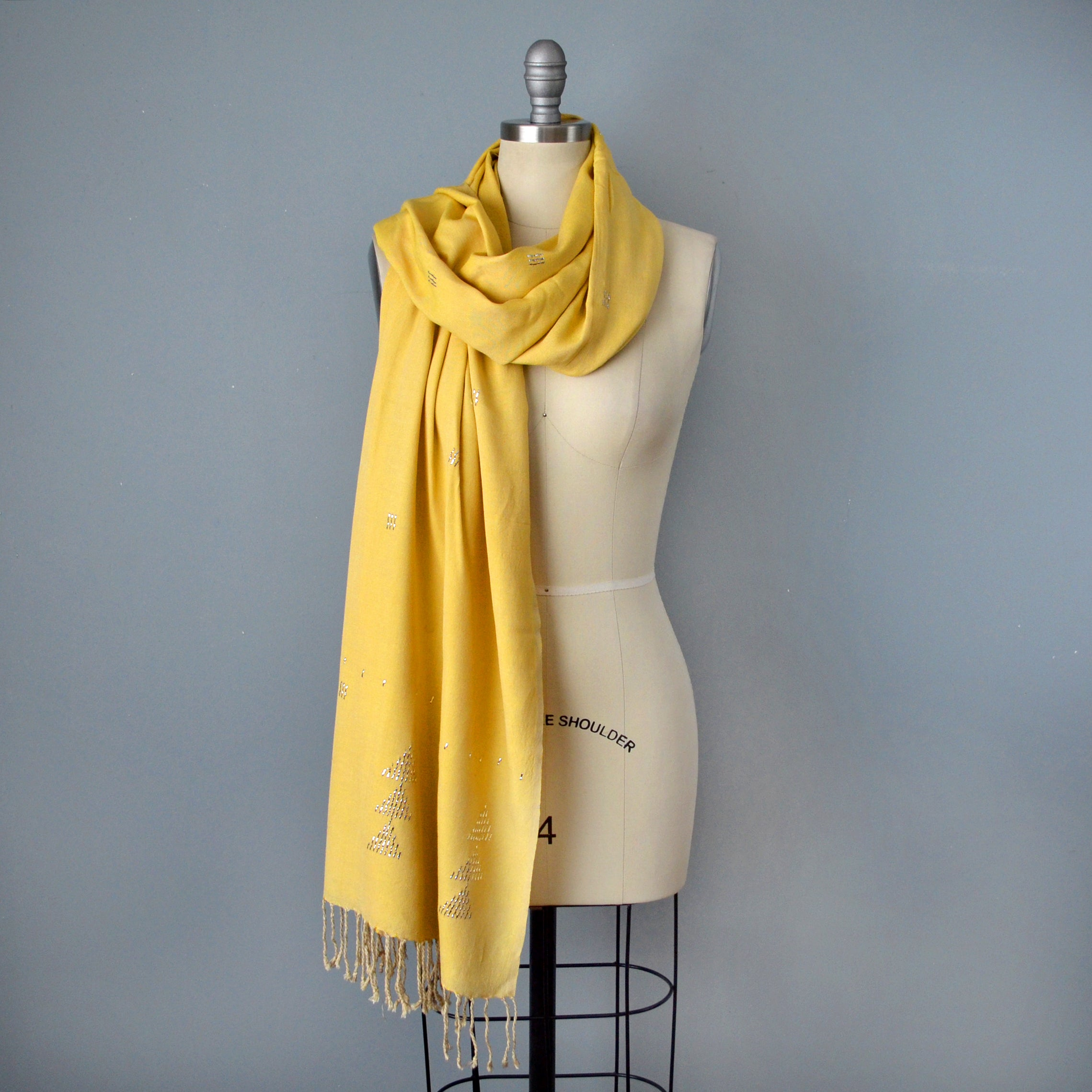 Yellow Assiut Scarf by Yuba Mercantile