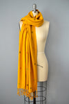 Mustard Yellow Cotton Scarf by Yuba Mercantile