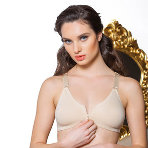 FRONT OPENING BRA - COTTONISH