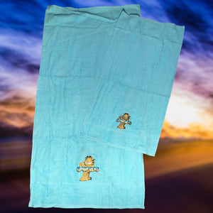 4 PIECES GARFIELD KID'S BATH TOWEL SET - COTTONISH
