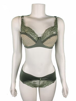 Lace-design Bra and Panty Set Lingerie