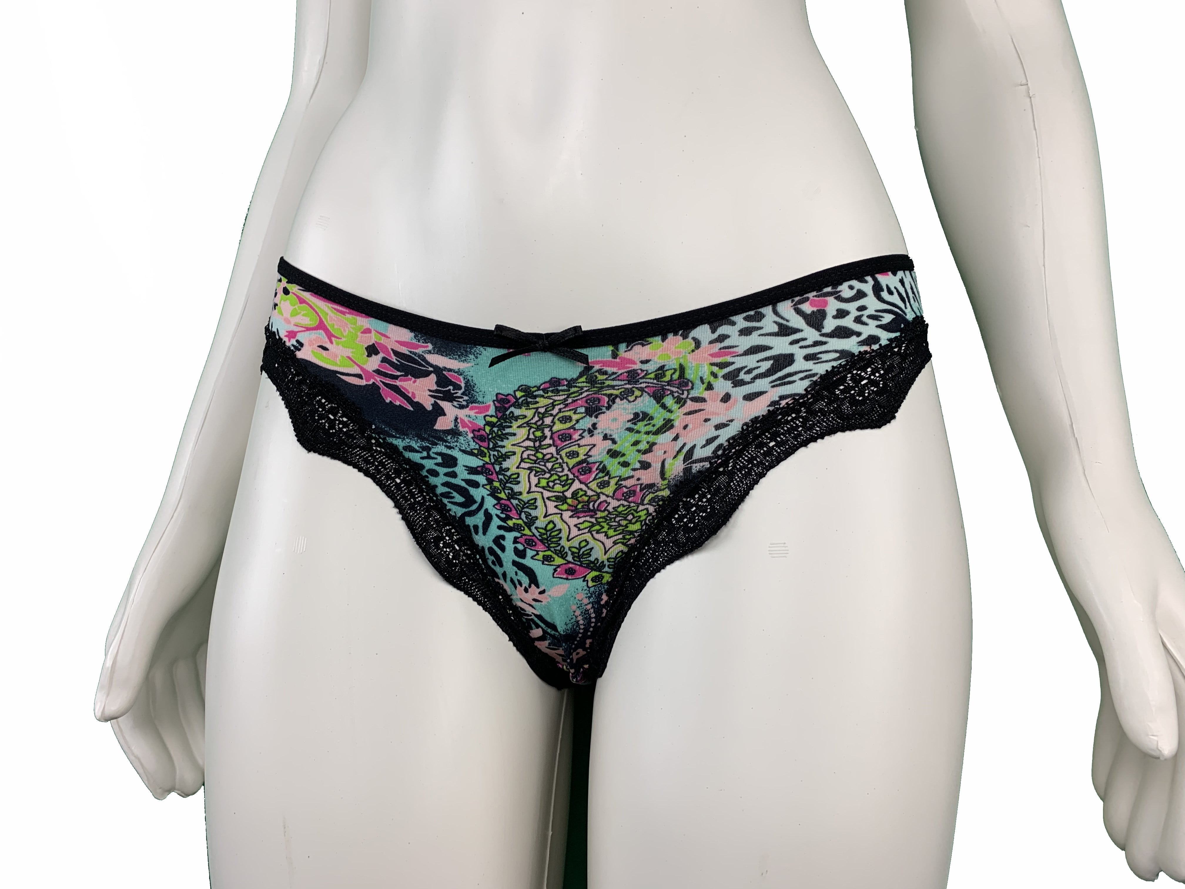 Printed Mid-waist Panty with Elastic Waistband