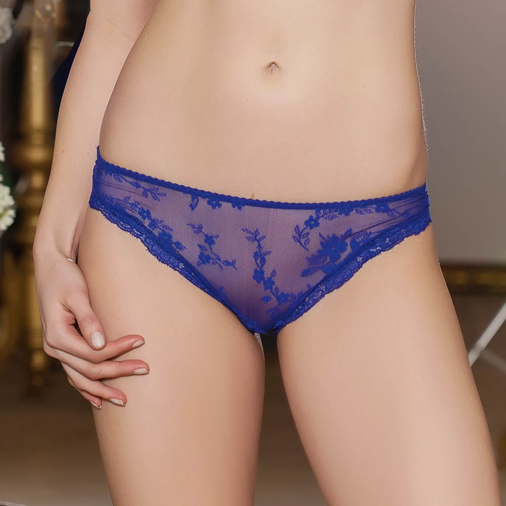 SEMI TRANSPARENT LACE PANTIES - COTTONISH