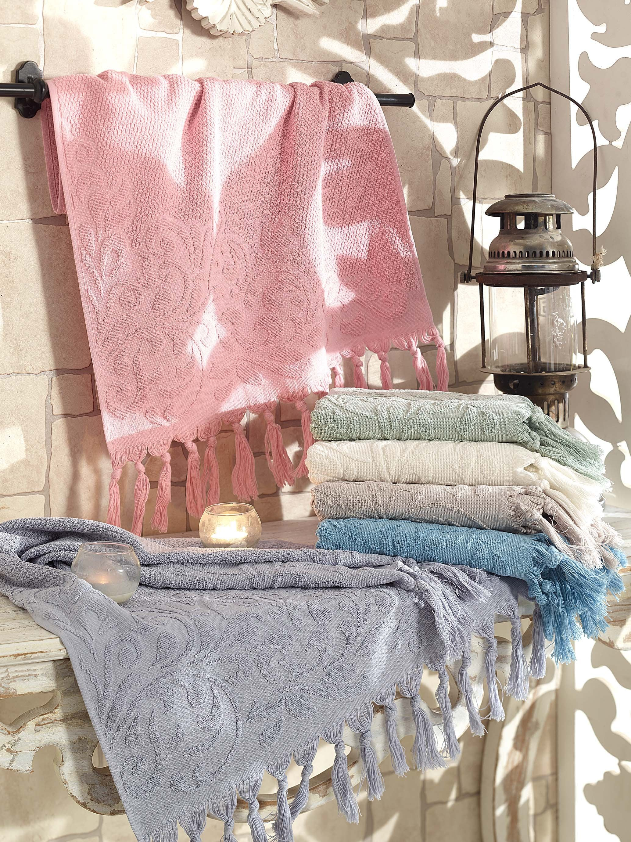 JACQUARD COTTON HIGH QUALITY TURKISH MADE TOWEL IN 6 COLORS - COTTONISH