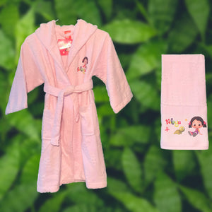 NILOYA GIRL'S BATH TOWEL SET - COTTONISH