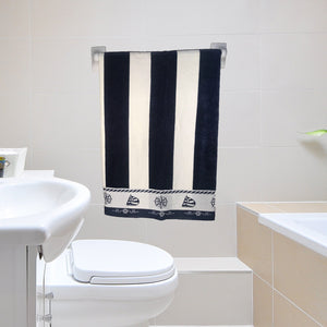 NAVY BEACH TOWEL - POOL TOWEL - COTTONISH