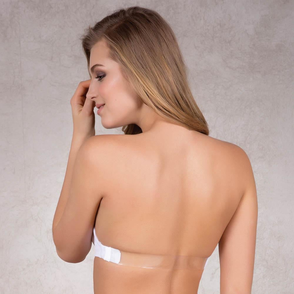 MULTI PURPOSE STRAPLESS PUSH UP BRA WITH BACK STRAP ACCESSORIES - COTTONISH