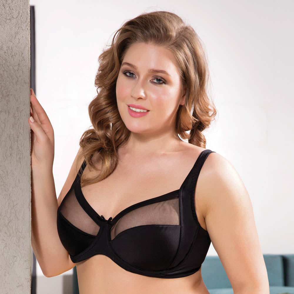 CLASSIC MINIMIZER BRA WITH LACE - COTTONISH