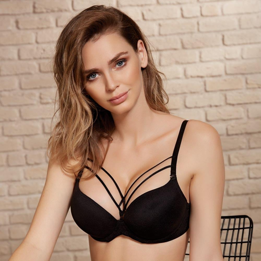 BRA WITH LACE - COTTONISH