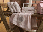 TURKISH BAMBOO TOWEL WITH FRENCH GUIPURE & EMBROIDERY - COTTONISH