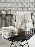 TURKISH BAMBOO LUXURY TOWEL WITH FRENCH GUIPURE - COTTONISH