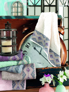 6 BEAUTIFUL COLOR JACQUARD COTTON TURKISH TOWEL - COTTONISH