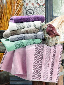 ABSORBENT JACQUARD COTTON TURKISH TOWEL 6 COLORS - COTTONISH