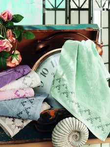 STYLISH AND ABSORBENT JACQUARD COTTON TURKISH MADE TOWEL IN 6 COLORS - COTTONISH