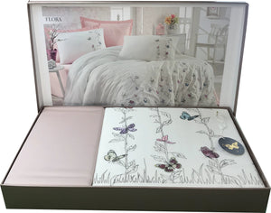 Butterfly Embroidery  6 Pieces Bedding Set