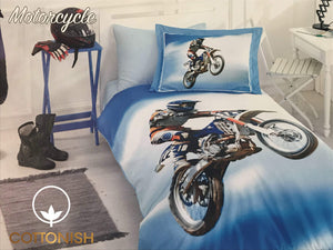 MOTORCYCLY BOY'S BEDDING SET - COTTONISH