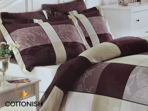 ROBIN PREMIUM SATIN DOUBLE BEDDING SET - COTTONISH