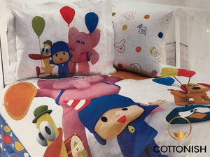 POCOYO BALOON KID'S BEDDING SET - COTTONISH