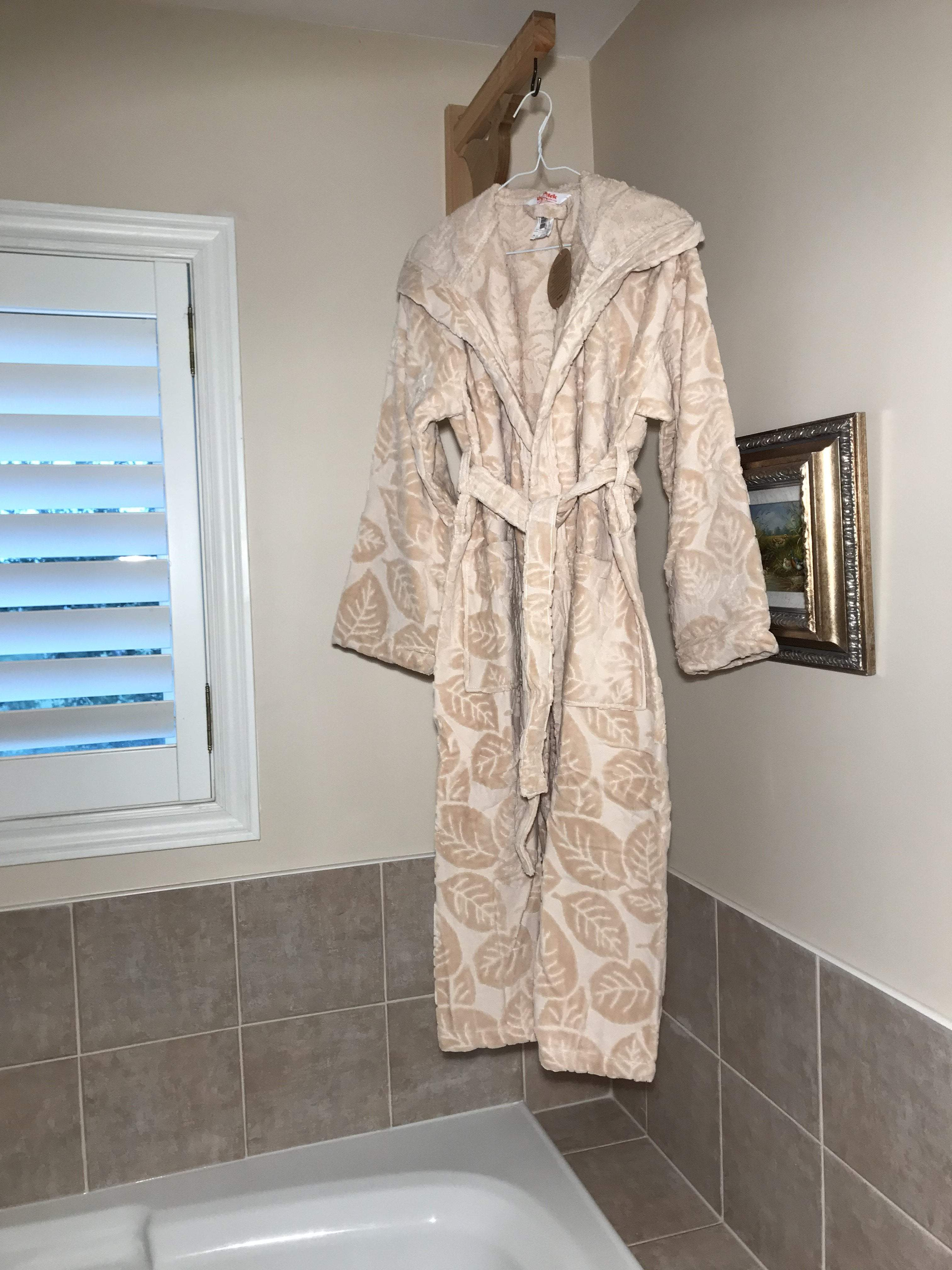 HOODED BATHROBE TOWEL - COTTONISH