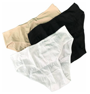 Mid-waist cotton panty, 3 in 1
