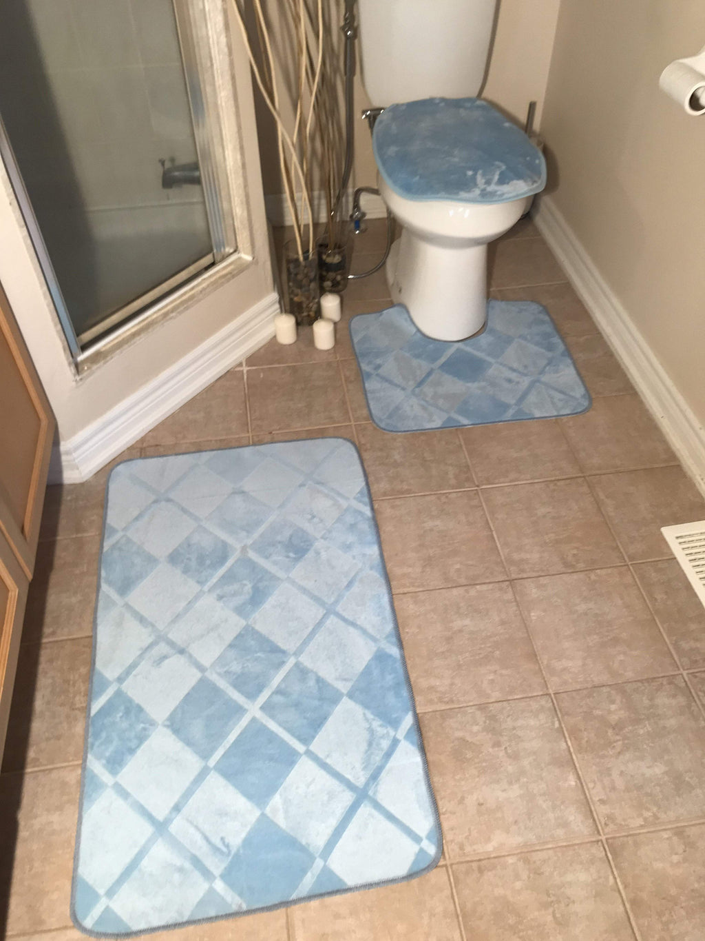 3 PIECES BATH RUGS SET - COTTONISH