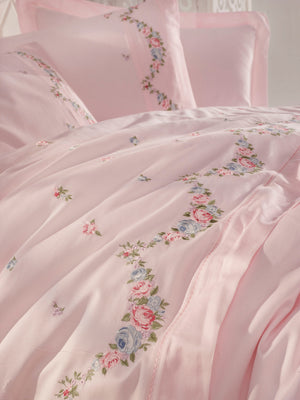 FINE SATIN COTTON BEDDING SET WITH EMBROIDERY - COTTONISH