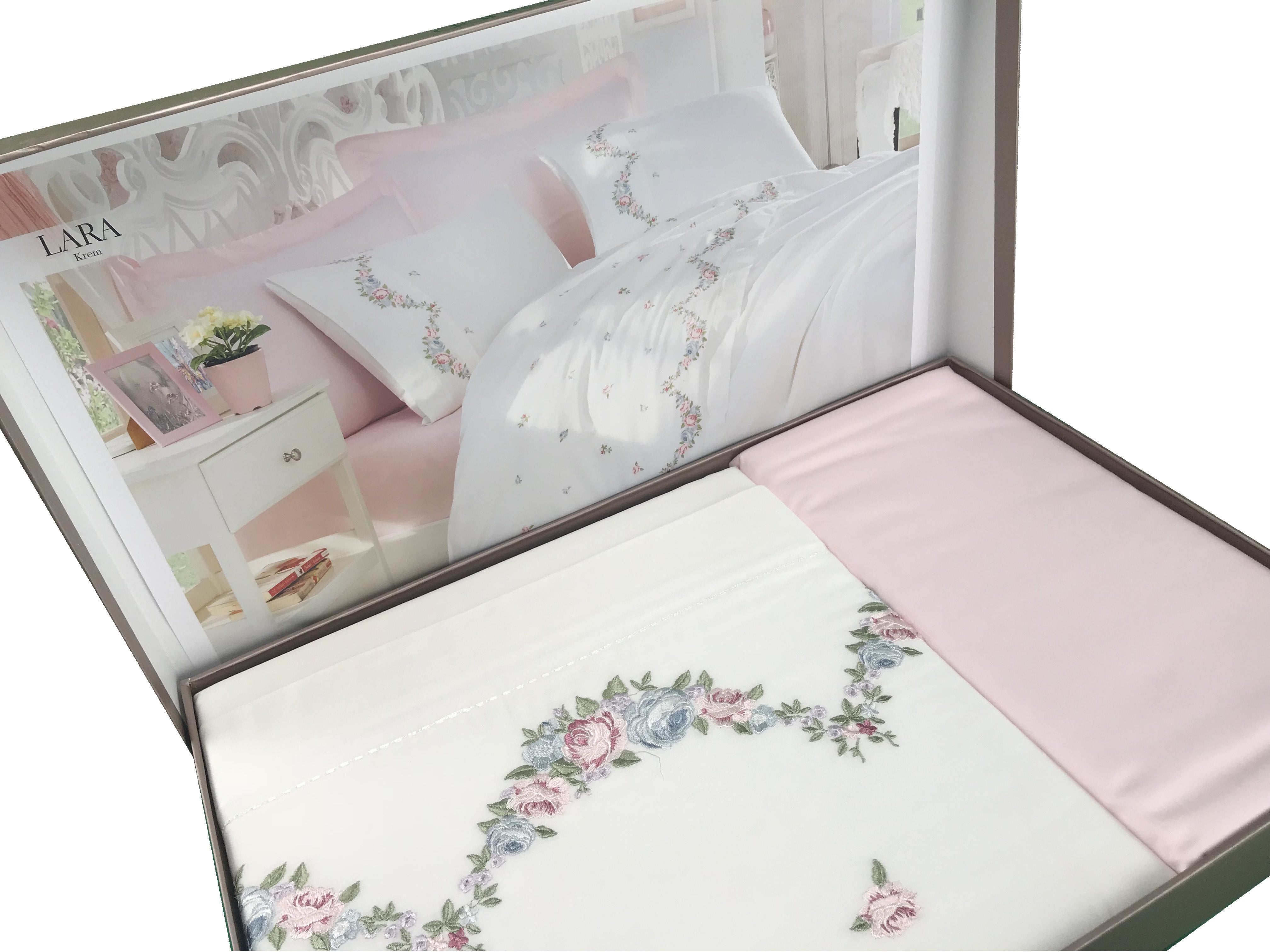 Luxury Floral Pink Bedding Set
