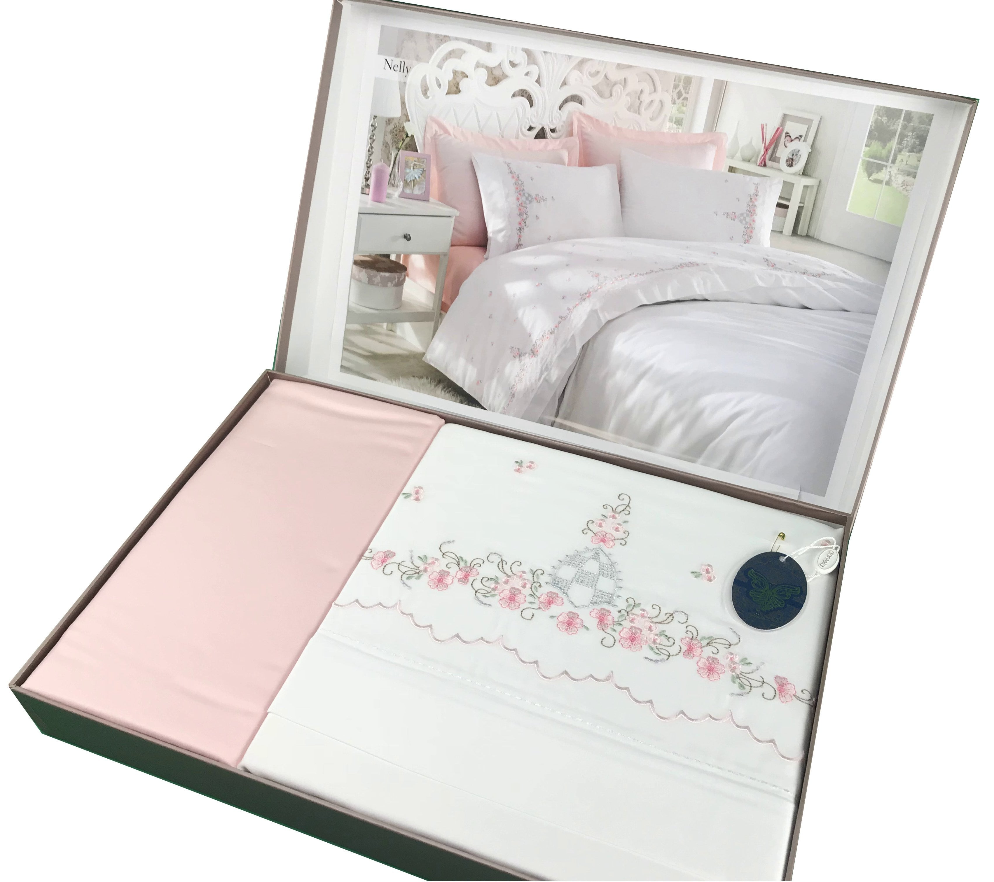 Floral Full Bed Set with 2 Shams
