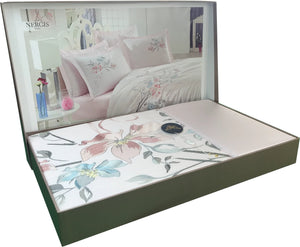 Floral Queen Size Bedding Set with 6 PCS