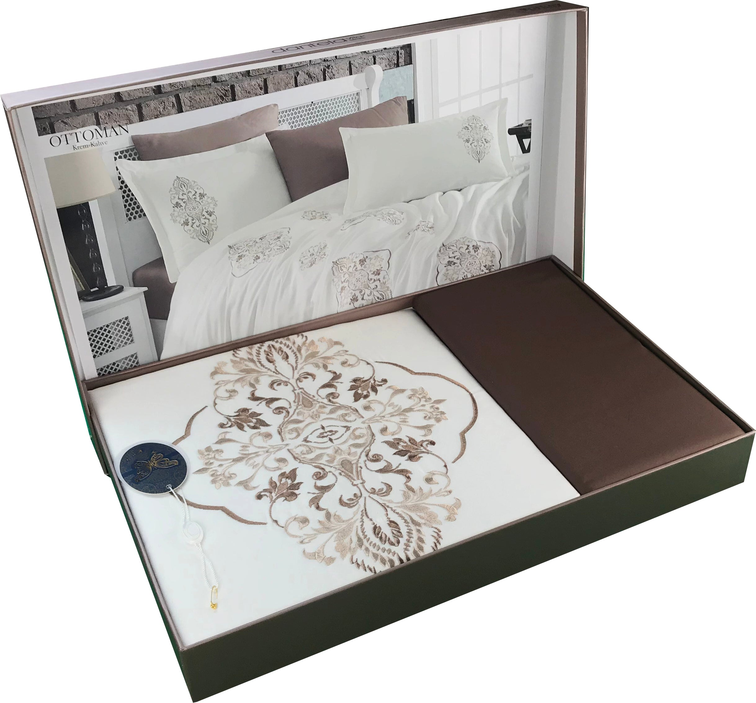 White Bedding Set Including: Duvet Cover, Bed Sheet, Pillow case and Pillow Shams