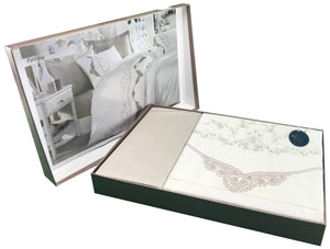 6 Pieces Lace Bedding Set