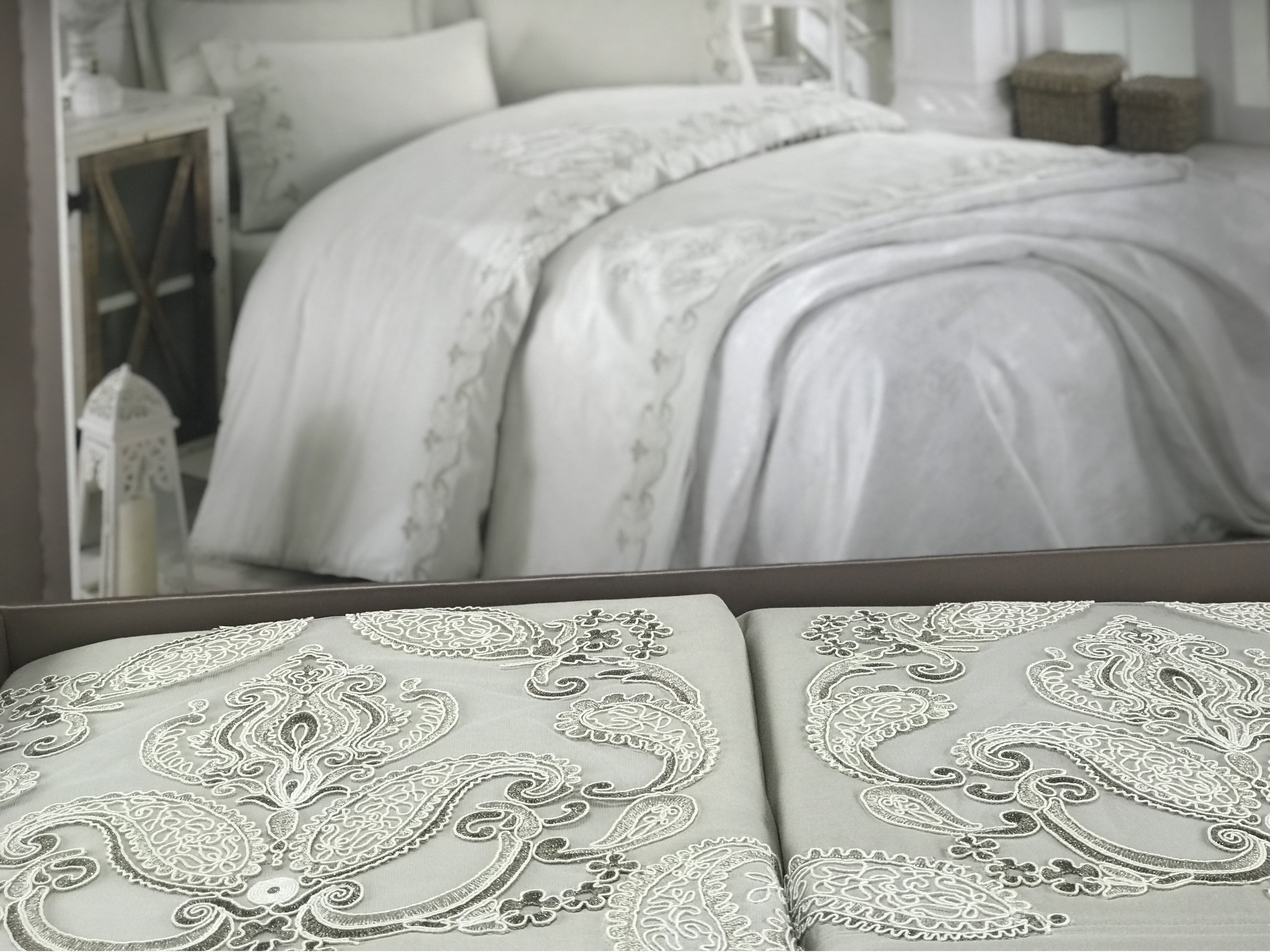 Duvet Cover Set with Pique - Made in Turkey